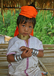 Young girl from the Padaung tribe.
