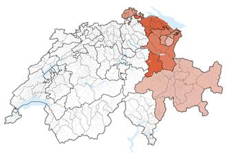 Eastern Switzerland - Image: Karte Ostschweiz 2013.2