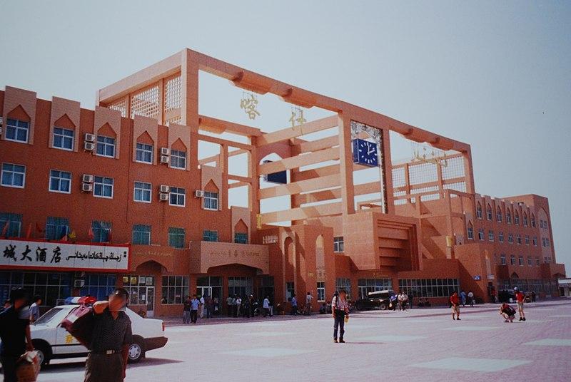 Kashgar station, Kashgar-city, Xinjiang, China.jpg