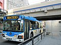 Kawasaki City Bus M-3443 near Mizonokuchi Station.jpg