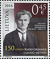 Kazys Grinius 2016 stamp of Lithuania.jpg