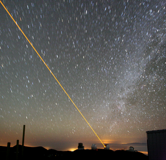 W. M. Keck Observatory - Image: Keck laser at night