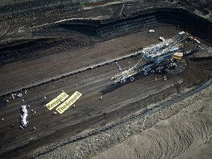 Ende Gelände 2016 - Environmental activist blocking the coal mine during Ende Gelände 2016.