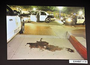 Death of Kelly Thomas - The crime scene in the immediate aftermath of the beating