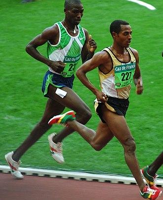 Joseph Ebuya - Ebuya shadowing Kenenisa Bekele on the 2006 Golden League circuit