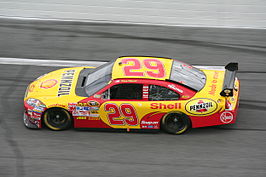 Kevin Harvick op de Daytona International Speedway in 2008.