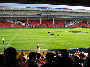 Kingsholm Stadium - The view from the shed
