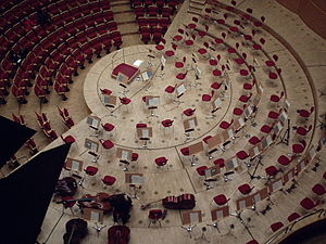 Sonntag aus Licht - The Kölner Philharmonie, where the German premiere of Hoch-Zeiten für Orchester took place on 14 February 2003