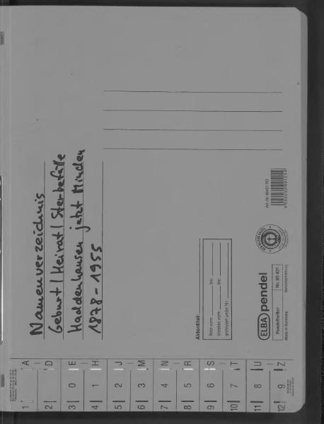 File:Kombiniertes Namensverzeichnis zu den Geburts-, Heirats- und Sterberegistern des Standesamtes Haddenhausen, 1878 bis 1955.djvu