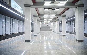 Kommunarka (Moscow Metro) - Image: Kommunarka metro station (2019 01 14)