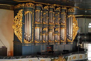 Kongsberg Church - Image: Kongsberg kirke Orgue