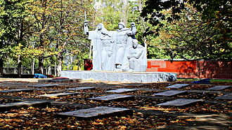 Kostiantynivka - Grave of Soviet soldiers in Kostiantynivka