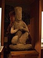 Korea-Goryeo dynasty-Seated Bodhisattva stone statue-01