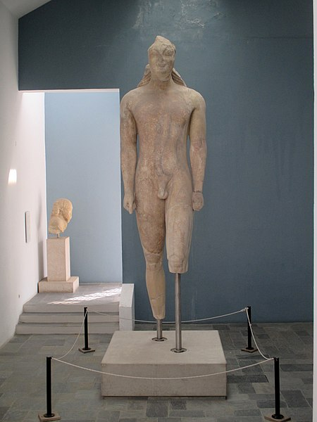 The Kouros of Samos, 6th c BCE, Samos Archaeological Museum, Greece.