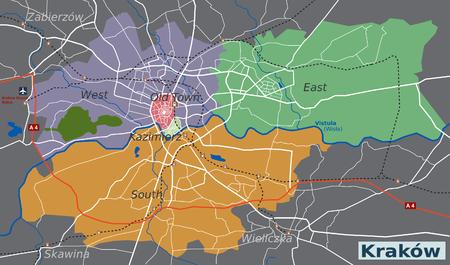 תוצאת תמונה עבור מפה של קרקוב
