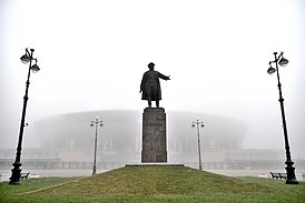 Krestovsky island. Monument to the statesman S. M. Kirov.jpg