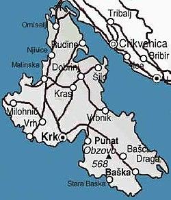 krk sziget térkép Krk (sziget) – Wikipédia krk sziget térkép