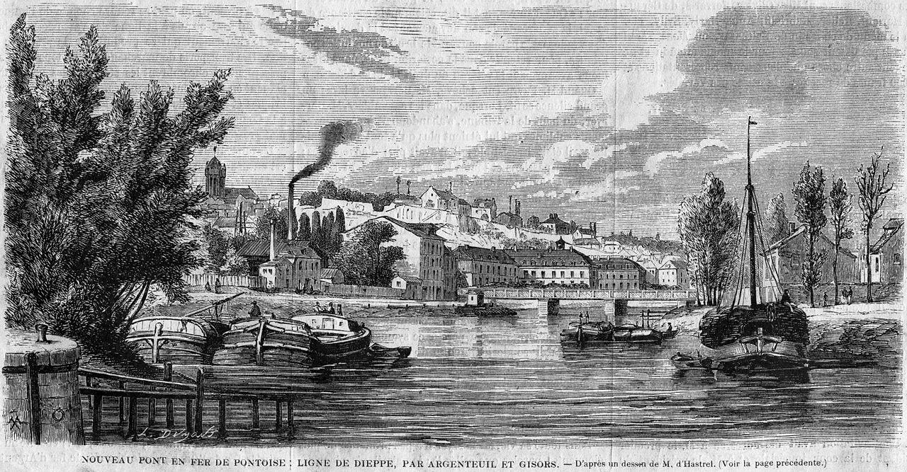 File l 39 illustration 1862 gravure nouveau pont en fer de for Imag fer forget argenteuil