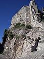 L'enceinte du château de Termes au niveau du fossé..jpg