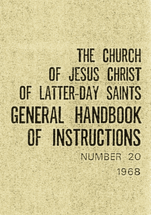 Handbook (LDS Church) - 1968 Leader Handbook