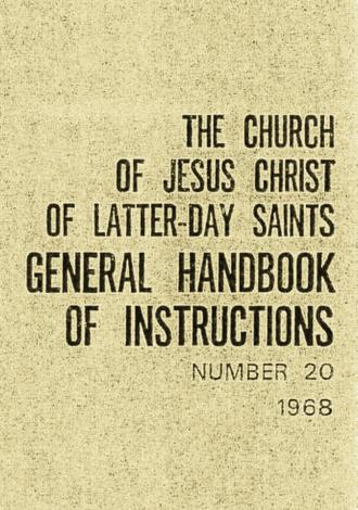 Handbook (LDS Church) - 1968 Leader Handbook