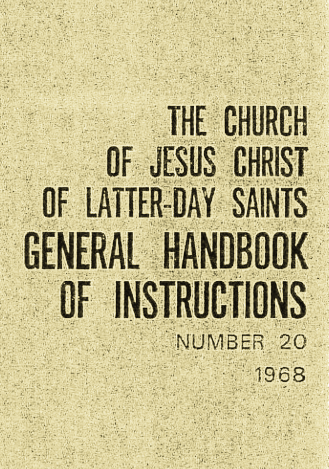 Handbook Lds Church Wikiwand