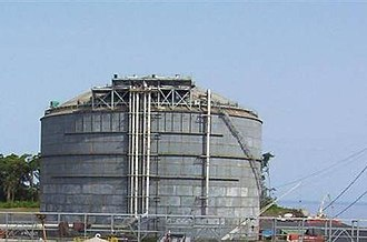 Liquefied natural gas - LNG storage tank at EG LNG