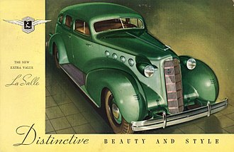 LaSalle (automobile) - 1935 LaSalle advertisement, showing the distinctive Harley Earl body design.