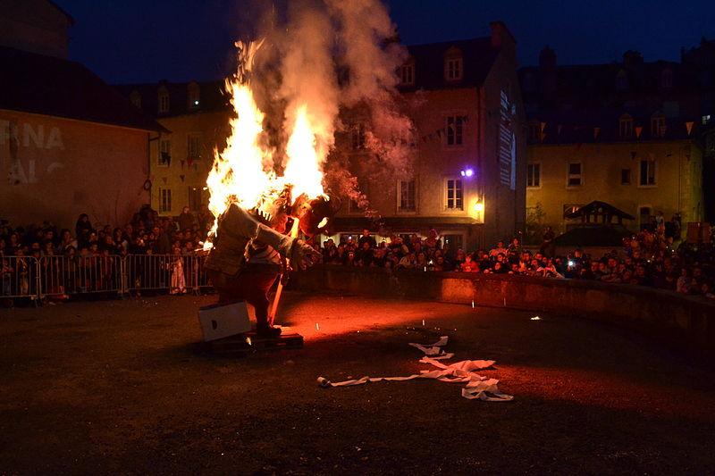 Cremacion de Sent Pançard - Carnaval Biarnés 2016