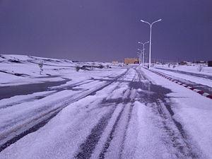 Kénadsa - Snow in Kénadsa
