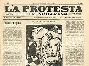 Portada deLa Protesta, del 28 de junio de 1926