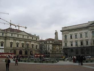 Palazzo della Banca Commerciale Italiana - La Scala (on the left) and the BCI palace (on the right)