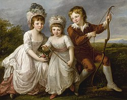 Lady Georgiana Spencer, Henrietta Spencer and George Viscount Althorp by Angelika Kauffmann.jpg