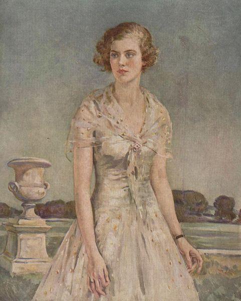 Lady Mary Lygon (vers 1930) par William Bruce Ellis Ranken (1881-1941).