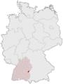 Lage der kreisfreien Stadt Ulm in Deutschland.png