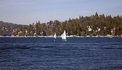 Lake Arrowhead - Sailing on the lake
