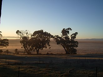Lake George (New South Wales) - Looking east over a dry lake bed