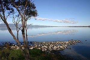 Lake Wairarapa - Western shore looking South