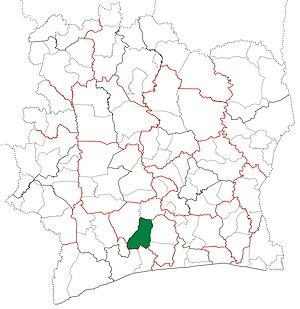 Lakota Department - Image: Lakota Department locator map Côte d'Ivoire