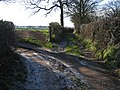 Lane and Footpath Junction in Kelsall - geograph.org.uk - 331632.jpg