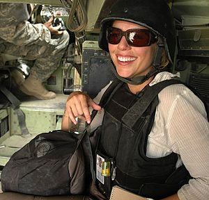 Battle of Haifa Street - CBS News correspondent Lara Logan in Iraq. US Army photo.