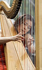 Lavinia Meijer playing the harp, 2011.jpg