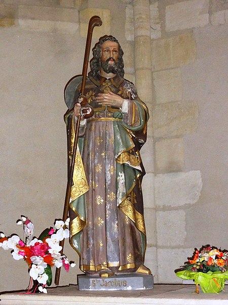 Le Barp (Gironde) église, statue St.Jacques le Majeur