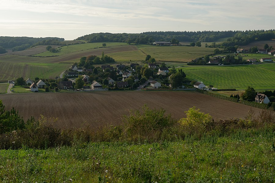 Hameau du Mesnil-Milon à Gasny dans l'Eure.