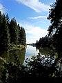Le lac du barrage de la Gimond dans toute sa longueur..jpg