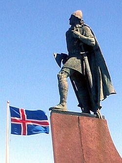 Leif Eriksson szobra Reykjavíkban