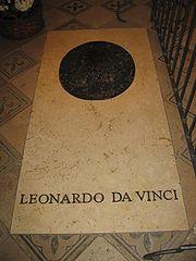 Leonardo da Vinci tomb in Saint Hubert Chapel (Amboise).