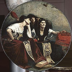 "Parcae - Les Parques (""The Parcae,"" ca. 1885) by Alfred Agache"