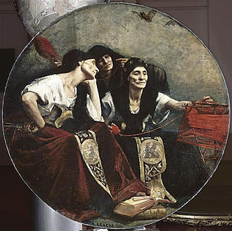 """Nona (mythology) - Les Parques (""""The Parcæ""""), Alfred Agache, c 1885"""