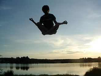 Levitation (paranormal) - A representation of a person levitating